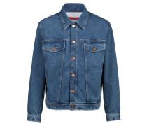 Jeansjacke aus Baumwolle mit unversäuberten Säumen