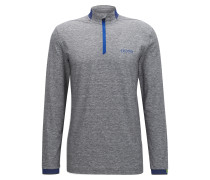 Regular-Fit Longsleeve Polo aus Funktionsgewebe mit Wolle