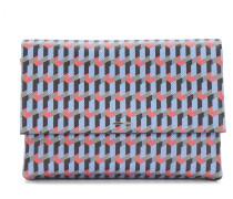 Gemusterte Handtasche aus Leder mit abnehmbarem Schulterriemen