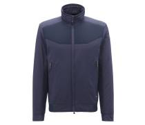 Regular-Fit Jacke aus Material-Mix