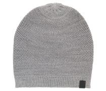 Strickmütze aus Woll-Mix mit Birdseye-Muster