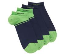 Zweier-Pack Sneaker-Socken aus gekämmtem Baumwoll-Mix