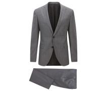 Extra-Slim-Fit-Anzug aus Schurwolle mit Streifen