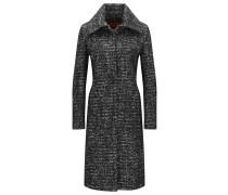 Regular-Fit Mantel aus schwerem Material-Mix mit Wolle und Alpaka