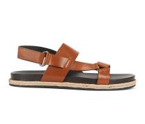 Leder-Sandalen mit Flechtleiste