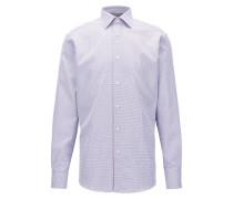 Regular-Fit Hemd aus Baumwolle mit Vichy-Karo