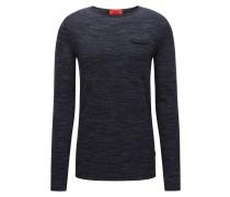 Oversize Pullover aus Woll-Mix mit Rundhalsausschnitt