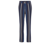 Regular-fit draped trousers with multicolour stripe