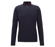 Regular-Fit Longsleeve-Poloshirt aus Stretch-Baumwolle