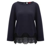 Regular-Fit Pullover aus Seide und Baumwolle