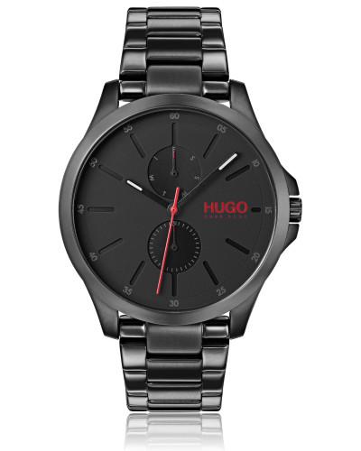 Uhr mit Gliederarmband aus Edelstahl