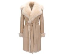 Regular-Fit Mantel aus Lammfell