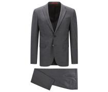 Extra Slim-Fit Anzug aus zweifarbiger Stretch-Schurwolle