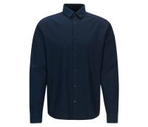 Extra Slim-Fit Overshirt aus Baumwolle mit Kontrastbesätzen