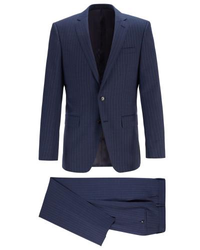 Gestreifter Slim-Fit Anzug aus Schurwoll-Serge