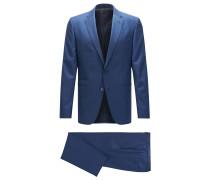 Gemusterter Regular-Fit Anzug aus Schurwolle mit doppelten Paspeltaschen