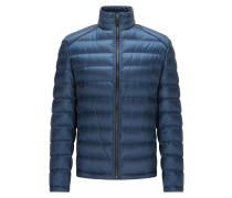 Regular-Fit Daunenjacke aus leichtem Material-Mix