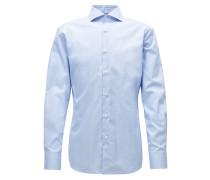 Kariertes Slim-Fit-Hemd aus knitterfreier Baumwolle