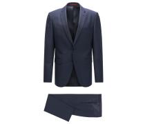 Gemusterter Regular-Fit Anzug aus Schurwolle