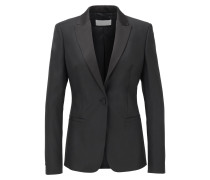 Regular-Fit Blazer im Smoking-Stil aus Woll-Mix