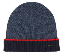 Mouliné-Mütze aus Schurwolle