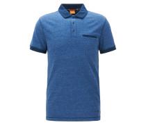 Regular-Fit Poloshirt aus melierter Baumwolle