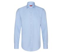 Unifarbenes Slim-Fit Hemd aus Baumwolle