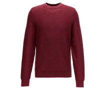 Crew-neck sweater in stonewashed cotton