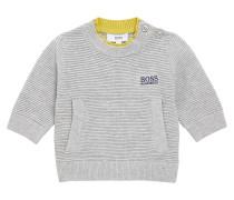 Kids-Pullover aus elastischem Baumwoll-Mix mit Struktur