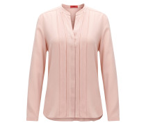 Relaxed-Fit Seiden-Bluse mit Chiffon-Detail
