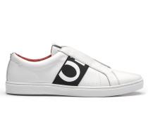 Ledersneakers mit markantem Logo