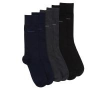 Socken aus elastischem Baumwoll-Mix im Dreier-Pack