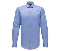 Slim-Fit Hemd aus Baumwolle mit geraden Manschetten
