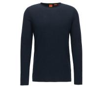Slim-Fit Pullover aus leichter Baumwolle