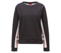 Oversize-Fit Pullover aus Baumwoll-Mix mit kontrastierenden Einsätzen