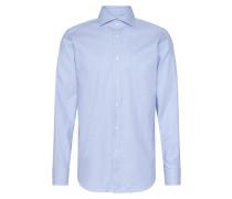 Gemustertes Regular-Fit Tailored Hemd aus Baumwolle