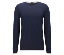Slim-Fit Pullover aus reiner Schurwolle