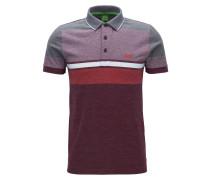 Meliertes Slim-Fit Poloshirt aus Baumwolle im Colour Blocking Design