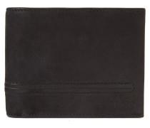 Klapp-Geldbörse aus Leder mit Naht-Details