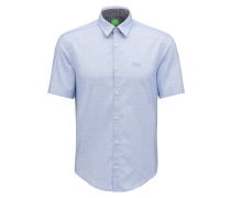 Regular-Fit Hemd aus Fil-à-Fil-Baumwolle