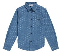 Kids-Hemd aus Baumwolle mit Allover-Print