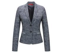 Regular-Fit Blazer aus elastischem Tweed