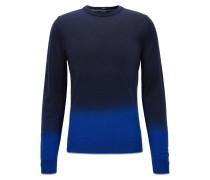 Slim-Fit Dip Dye Pullover aus Schurwoll-Mix mit Seide