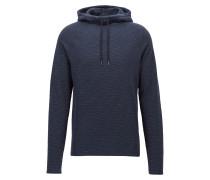 Slim-Fit Kapuzen-Sweatshirt aus strukturiertem Baumwoll-Jersey