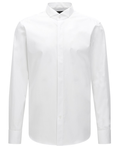 Regular-Fit Business-Hemd aus Baumwolle