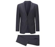Fein karierter Slim-Fit-Anzug aus Schurwolle