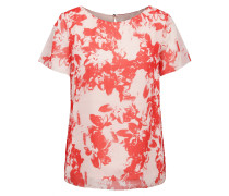 Regular-Fit Shirt aus Material-Mix mit Blumen-Print