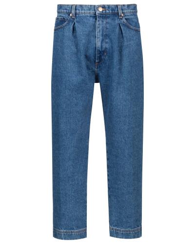 Relaxed-Fit Jeans in Cropped-Länge mit Bundfalten