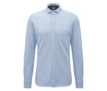Slim-Fit Hemd aus Baumwoll-Jersey