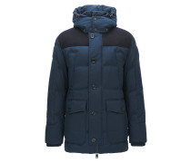 Relaxed-Fit Steppjacke aus Material-Mix